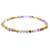 Jasper and amethyst beaded stretch anklet, 'Magical Gems' - Jade and Amethyst Beaded Stretch Anklet from Guatemala (image 2b) thumbail