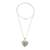 Jade pendant necklace, 'Hopeful Destiny' - Jade and Sterling Silver Heart Pendant Necklace (image 2c) thumbail