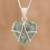 Jade pendant necklace, 'Magical Destiny' - Jade and Sterling Silver Heart Pendant Necklace thumbail