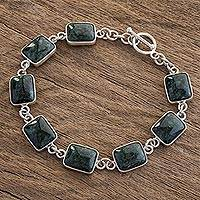 Jade link bracelet,