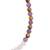 Multi-gemstone beaded stretch anklet, 'Eye of Nature' - Multi-Gem Beaded Anklet with an Eye Pendant from Guatemala (image 2b) thumbail