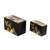 Wood decorative boxes, 'Mountain Friends' (pair) - Black with Painted Birds Rectangular Pinewood Boxes (Pair) (image 2a) thumbail