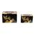 Wood decorative boxes, 'Mountain Friends' (pair) - Black with Painted Birds Rectangular Pinewood Boxes (Pair) (image 2b) thumbail