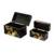 Wood decorative boxes, 'Mountain Friends' (pair) - Black with Painted Birds Rectangular Pinewood Boxes (Pair) (image 2c) thumbail