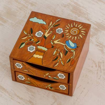Wood jewelry box, Lively Tree