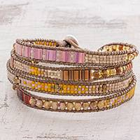 Glass beaded wristband bracelet,