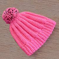 Hand-crocheted hat, 'Carnation Beauty' - Crocheted Hat in Carnation from Guatemala