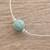 Jade beaded pendant necklace, 'Mayan Texture' - Textured Jade Beaded Pendant Necklace from Guatemala (image 2b) thumbail