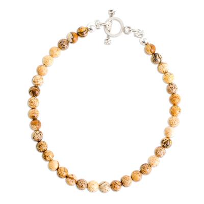 Jasper Beaded Bracelet from Guatemala