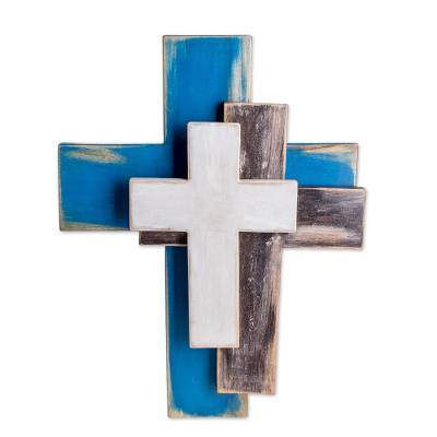 Handmade Trinity Wall Cross Crafted in Guatemala