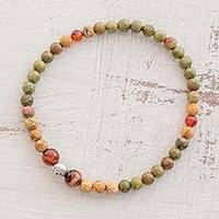 Featured review for Multi-gemstone beaded stretch bracelet, Guatemalan Jungle