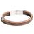 Faux leather wristband bracelet, 'Tricolor Elegance' - Tricolor Faux Leather Wristband Bracelet from Guatemala (image 2d) thumbail