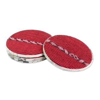 Cotton and Recycled Paper Coasters from Guatemala (Set of 4)