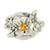 Sterling silver cocktail ring, 'Twinkling Garden' - Sterling Silver Floral Motif Cubic Zirconia Cocktail Ring (image 2a) thumbail