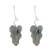 Sterling silver drop earrings, 'Dark Twisting Leaves' - Oxidized Sterling Silver Leaf Earrings from Costa Rica (image 2a) thumbail