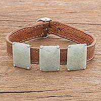 Jade pendant bracelet,