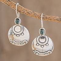 Jade drop earrings, 'Destiny Nahual' - Nahual Jade Drop Earrings from Guatemala