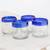 Recycled glass rocks glasses, 'Sky Reflection' (set of 4) - Set of Four Recycled Glass Rocks Glasses in Blue (image 2b) thumbail