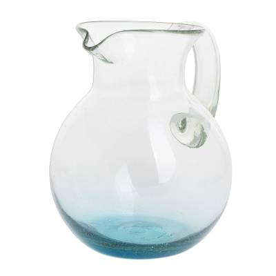Handblown Recycled Glass Pitcher from Guatemala