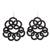 Hand-tatted dangle earrings, 'Elegant Swirls in Black' - Hand-Tatted Dangle Earrings in Black from Guatemala (image 2a) thumbail