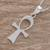 Sterling silver pendant necklace, 'Ankh' - Sterling Silver Ankh Pendant Necklace from Guatemala (image 2b) thumbail