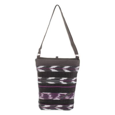 Chevron Motif Cotton Blend Sling from Guatemala
