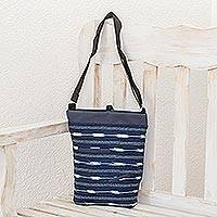 Cotton blend sling, 'Indigo Simplicity' - Cotton Blend Sling in Indigo from Guatemala
