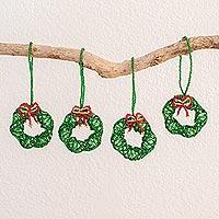 Glass beaded ornaments,