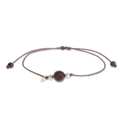 Natural Garnet Pendant Bracelet from Guatemala