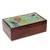 Glass mosaic tea box, 'Multicolored Flight' - Hummingbird-Themed Glass Mosaic Tea Box from Costa Rica (image 2a) thumbail