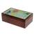 Glass mosaic tea box, 'Multicolored Flight' - Hummingbird-Themed Glass Mosaic Tea Box from Costa Rica (image 2b) thumbail
