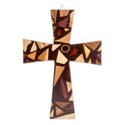 Handmade Reclaimed Wood Wall Cross from Costa Rica