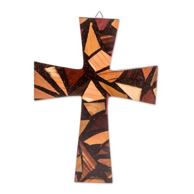Reclaimed Wood Wall Cross from Costa Rica