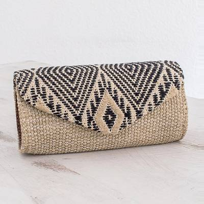 Handwoven cotton eyeglasses case, Mayan Cosmos