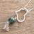 Jade pendant necklace, 'Dark Verde Love' - Jade Heart Pendant Necklace in Dark Green from Guatemala (image 2b) thumbail