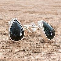 Jade stud earrings,