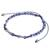 Sodalite beaded anklet, 'Enticing Blue' - Adjustable Sodalite Beaded Anklet from Guatemala (image 2a) thumbail