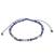 Sodalite beaded anklet, 'Enticing Blue' - Adjustable Sodalite Beaded Anklet from Guatemala (image 2c) thumbail