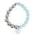Aquamarine and moonstone beaded stretch bracelet, 'Oceanic Heart' - Aquamarine and Moonstone Heart Beaded Stretch Bracelet (image 2b) thumbail