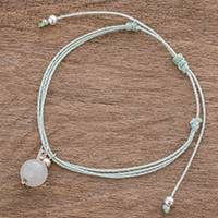 Quartz charm bracelet, 'Clarity of Mind' - Natural Quartz Charm Bracelet from Guatemala