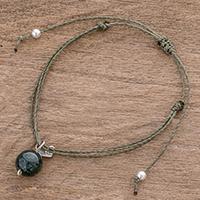 Jade charm bracelet,