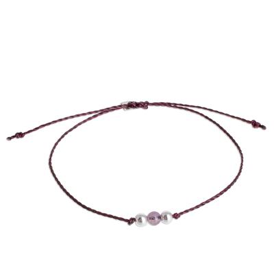 Amethyst Pendant Bracelet from Guatemala