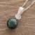 Jade pendant necklace, 'Dark Green Sublime Fantasy' - Round Dark Green Jade Pendant Necklace from Guatemala (image 2b) thumbail