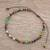 Tiger's eye and jasper beaded anklet, 'Colors of Life' - Tiger's Eye and Green Jasper Beaded Anklet from Guatemala thumbail
