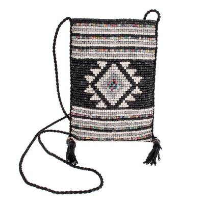 Geometric Ceramic Beaded Sling from Guatemala
