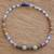 Multi-gemstone beaded stretch anklet, 'Vibrant Color' - Multi-Gemstone Beaded Stretch Anklet from Guatemala thumbail
