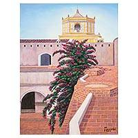 'Ancient Mercy' - Signed Painting of a Church from Guatemala
