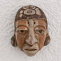 Ceramic mask, 'Mayan Farmer' - Ceramic Mask of a Mayan Farmer from El Salvador