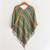 Cotton poncho, 'Beach Stripes' - Handwoven Striped Cotton Poncho from Guatemala thumbail