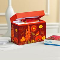 UNICEF Greeting Card Organizer, 'Sunshine Garden' - UNICEF Filing Box for Greeting Cards or Recipes